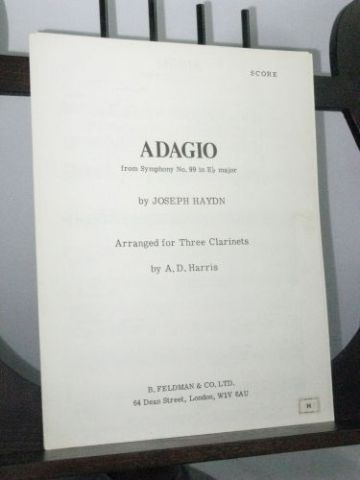 Haydn J - Adagio from Symphony No 99 arr Harris A D